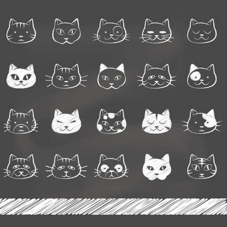 Illustrazione per set of cat icons - Immagini Royalty Free