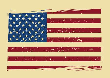 Illustration pour usa flag poster - image libre de droit