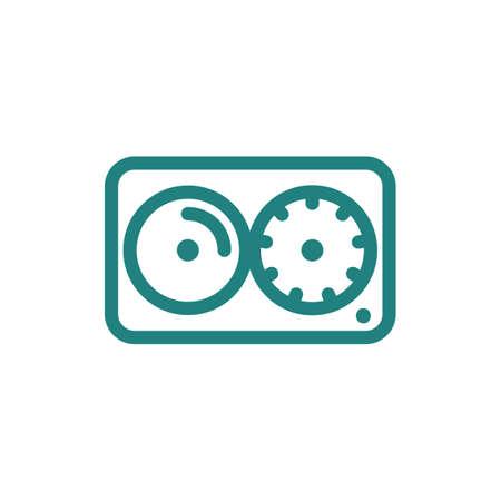Illustration pour DJ mixer icon - image libre de droit