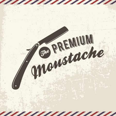 Ilustración de the premium moustache - Imagen libre de derechos