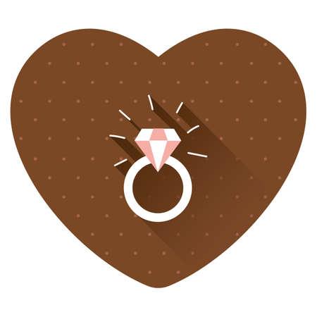 Illustration pour diamond ring - image libre de droit