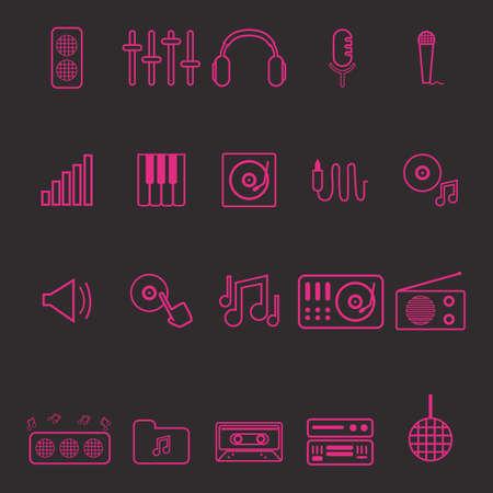 Illustration pour dj icon set - image libre de droit
