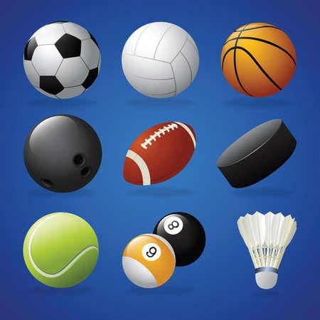 Ilustración de Collection of sports equipment - Imagen libre de derechos