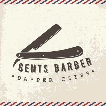 Ilustración de gents barber - Imagen libre de derechos