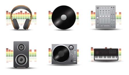 Illustration pour musical equipment - image libre de droit
