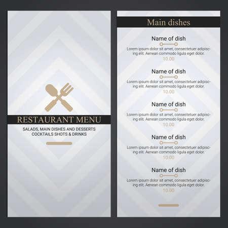 Ilustración de restaurant menu - Imagen libre de derechos