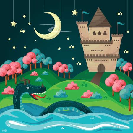 Ilustración de fantasy wallpaper - Imagen libre de derechos