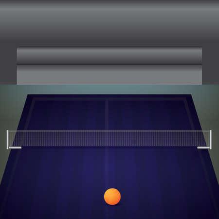 Illustration pour A table tennis table illustration. - image libre de droit