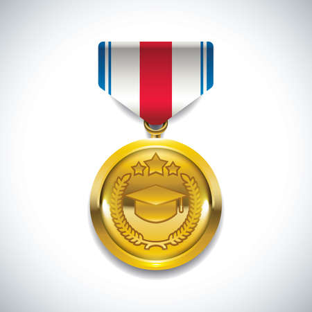 Illustration for A medal icon, isolated. - Royalty Free Image