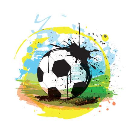 Ilustración de Abstract football illustration. - Imagen libre de derechos