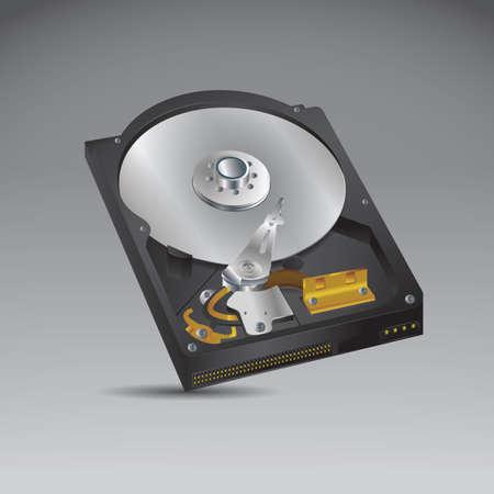 Illustration pour hard disk drive - image libre de droit