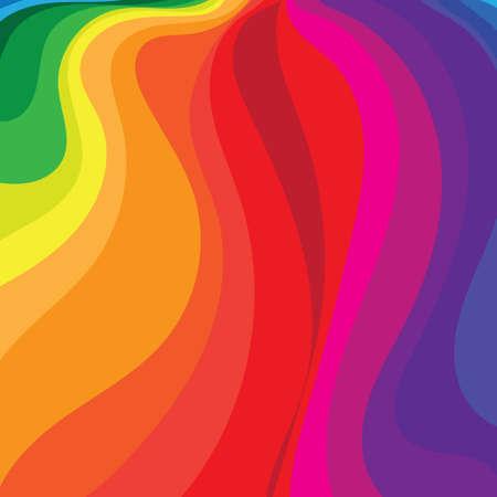 Ilustración de rainbow flowing background - Imagen libre de derechos