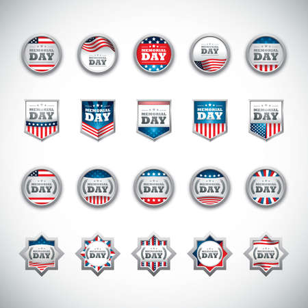 Illustration for memorial day collection - Royalty Free Image