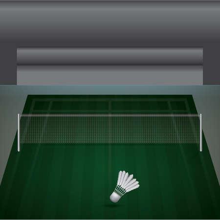 Illustration pour A badminton court illustration. - image libre de droit