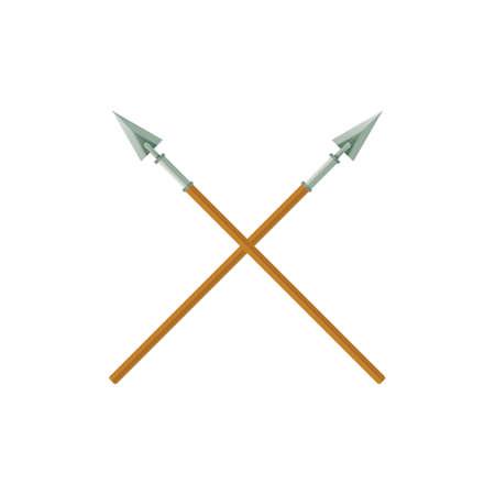 Ilustración de A two crossed spears illustration. - Imagen libre de derechos