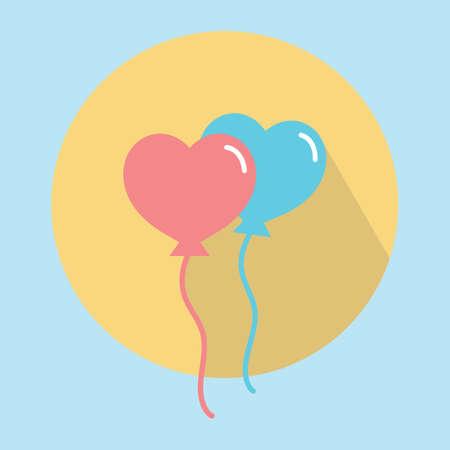 Illustration pour helium balloons - image libre de droit