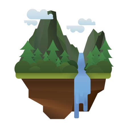 Ilustración de Scenic landscape - Imagen libre de derechos