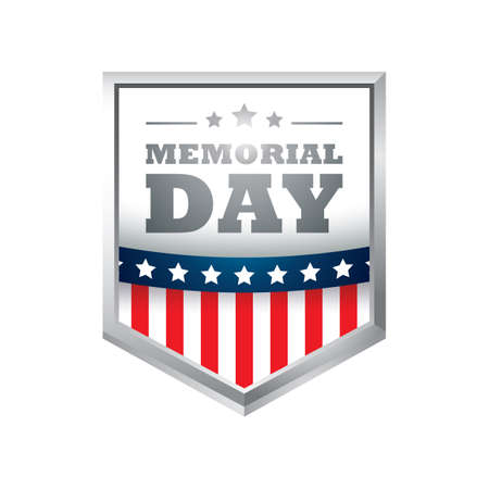 Illustration for memorial day - Royalty Free Image