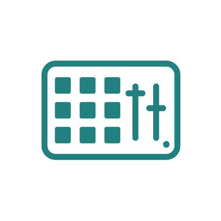 Ilustración de Midi pad controller icon - Imagen libre de derechos