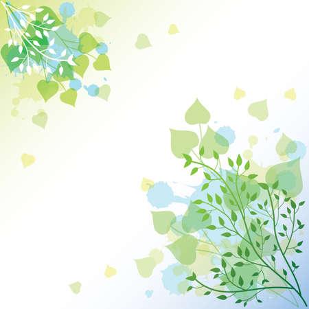 Ilustración de leaves background - Imagen libre de derechos