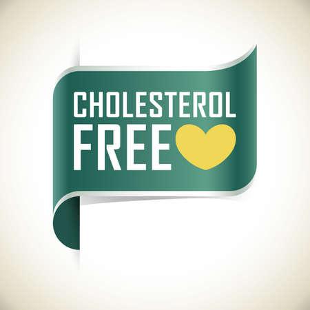 Ilustración de cholesterol free label - Imagen libre de derechos