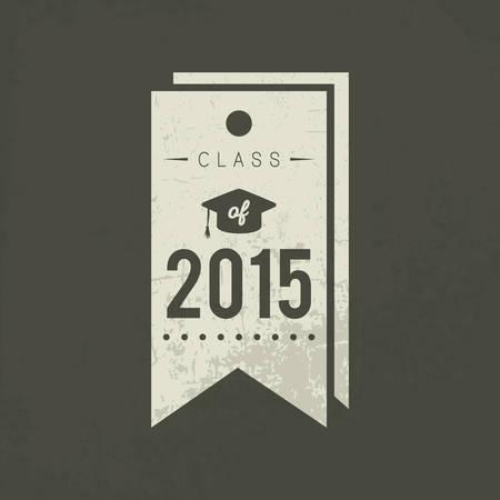 Illustration pour A class of 2015 tag illustration. - image libre de droit