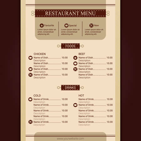 Illustration pour restaurant menu - image libre de droit