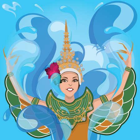 Illustration pour traditional thai dancer - image libre de droit