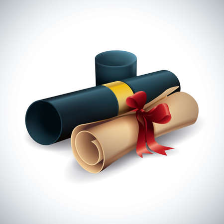 Illustration for diploma certificates - Royalty Free Image