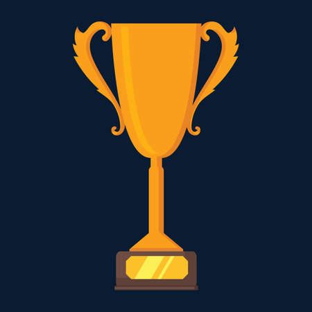 Illustration for Trophy icon - Royalty Free Image