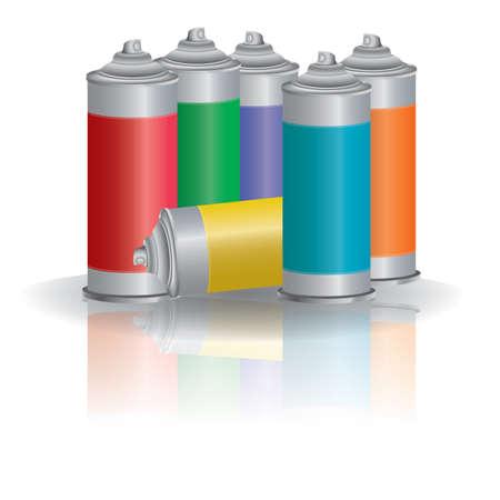 Illustration pour spray cans - image libre de droit