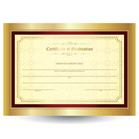 Illustration for certificate - Royalty Free Image