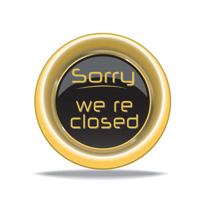 Illustration for sorry we are closed - Royalty Free Image