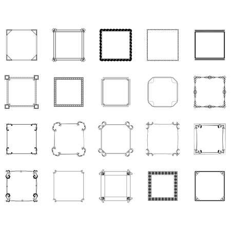 Ilustración de collection of frames - Imagen libre de derechos