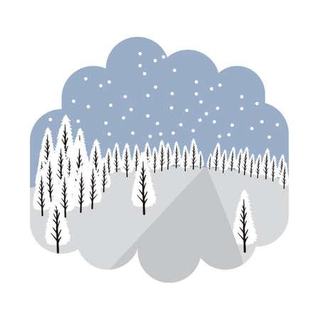 Illustration pour Winter season - image libre de droit