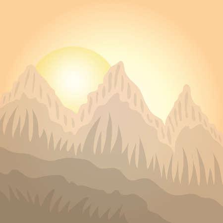 Illustration pour Scenic landscape - image libre de droit
