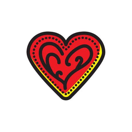 Ilustración de heart shaped cookie - Imagen libre de derechos
