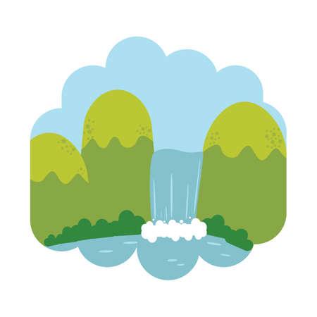 Ilustración de Waterfall - Imagen libre de derechos