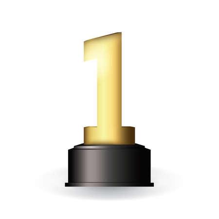 Illustration pour First trophy - image libre de droit