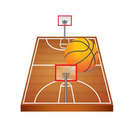 Illustration pour A basketball court illustration. - image libre de droit