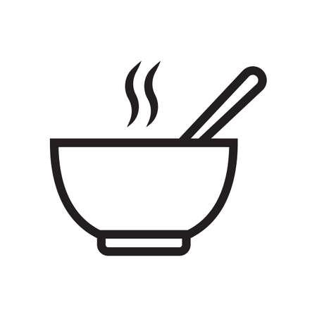 Ilustración de bowl of hot soup - Imagen libre de derechos