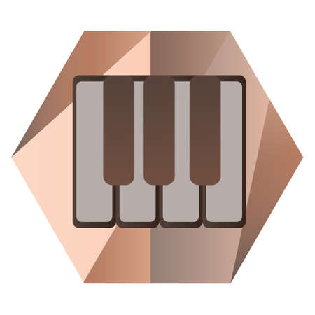 Illustration for piano keys for music - Royalty Free Image