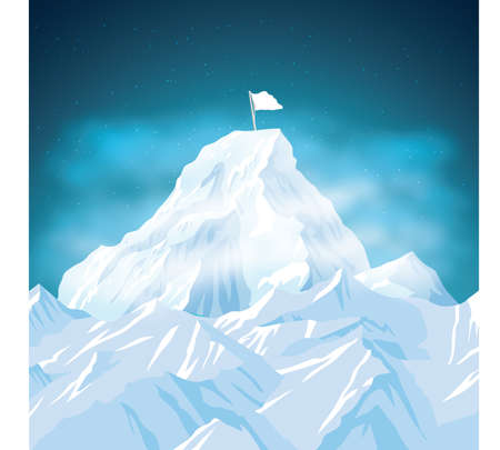 Illustration for Snow mountain - Royalty Free Image