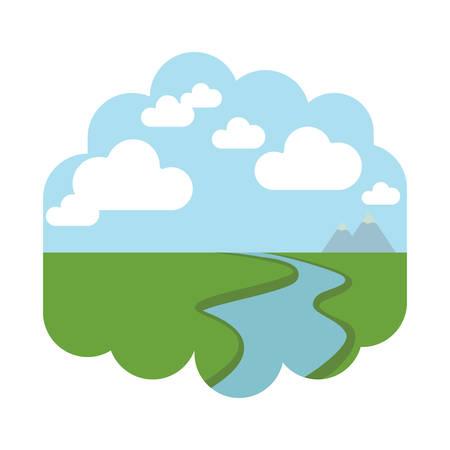 Ilustración de River and land - Imagen libre de derechos