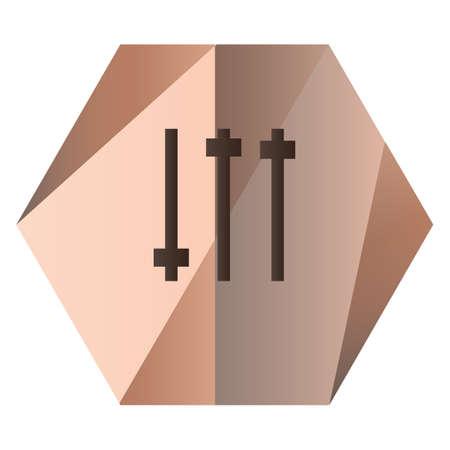 Illustration pour slider buttons - image libre de droit