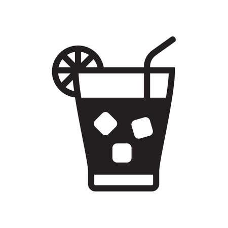 Ilustración de iced tea with a lemon slice - Imagen libre de derechos