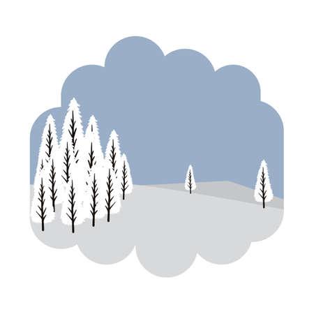 Illustration pour Trees covered with snow - image libre de droit