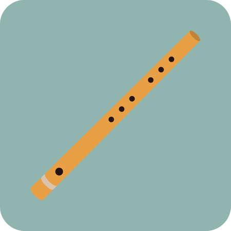 Illustration for flute - Royalty Free Image