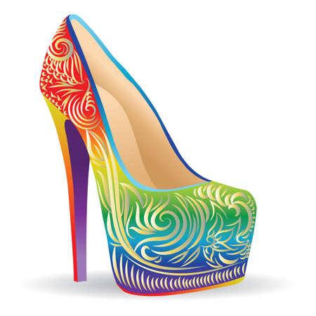 Illustration pour colorful elegant heels - image libre de droit