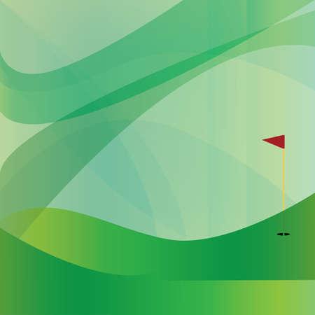 Illustration pour golf flag stick on abstract background - image libre de droit